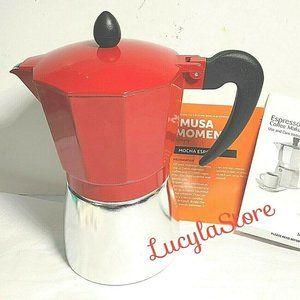6-Cups Stovetop Aluminium Espresso Coffee Maker